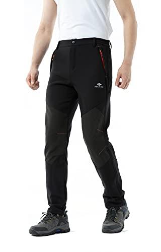 PECTNK Los Pantalones al Aire Libre de los Hombres Que Son de Fleece Impermeable...