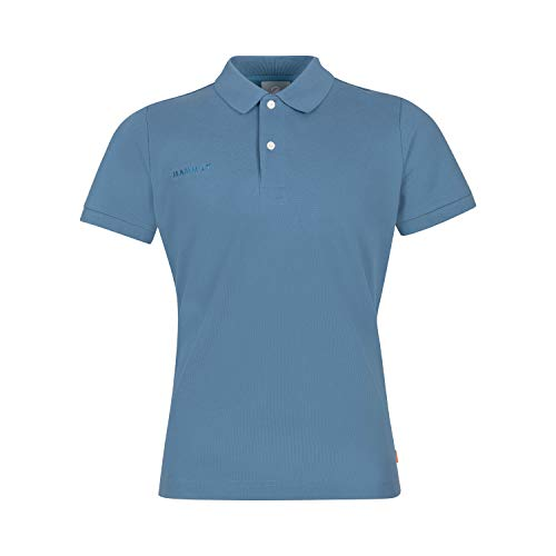 Mammut Herren Polo-shirt Logo Pique, blau, L