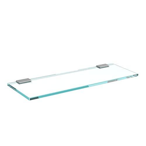 Glasregal Glasablage Wandregal Glas Bad-Regal Glas Badezimmer Regal Badablage Ablageregal - 8mm...