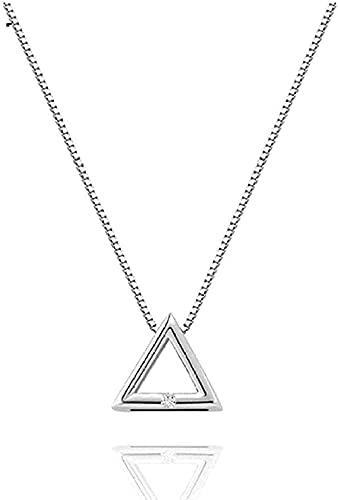 NC66 Collar de Cadena Collar de triángulo geométrico Colgante Collar Regalo