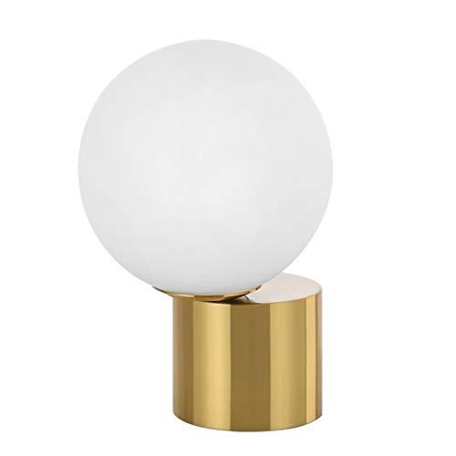 YHshop Lámpara de Mesa Lámpara de Mesa Moderna Decoración Bola de Cristal y Metal Tabla Oficina Lámpara de Lectura Lámpara para, Dormitorio, Sala de Estar Lámparas de Escritorio