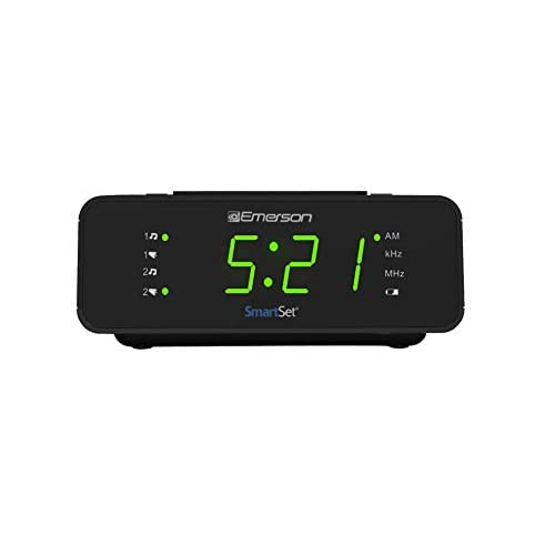 Emerson SmartSet Alarm Clock Radio with...
