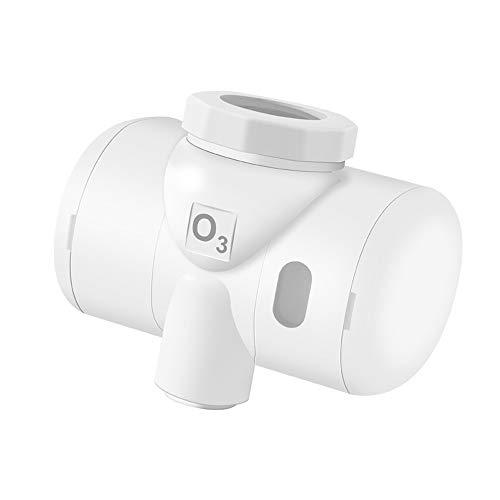 Kshzmoto Generador de ozono de Agua autoalimentado Ozonizador Ozonizador Grifo del hogar Grifo O3 Filtro de Agua Purificador Lavado Esterilizador Facial de Frutas y Verduras