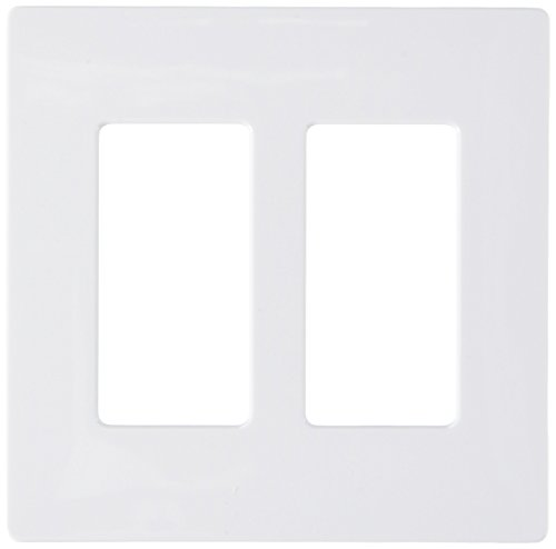 Lutron CW-2-WH 2-Gang Claro Wall Plate (Pack of 4), White