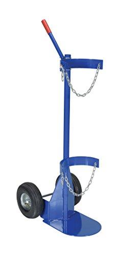 Vestil CYL-D-1-PN Cylinder Dolly with Pneumatic Wheel, Steel, 25-1/16