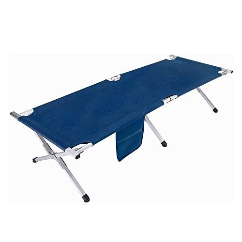 Cuna plegable para acampar al aire libre 120KG Cunas para acampar con cojinetes Senderismo Cama plegable de caza para adultos Cuna plegable con superficie de la cama impermeable y transpirable Bolsa d