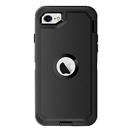 AICase for iPhone SE 2020 Case, Drop Protection Full Body Rugged Heavy Duty Case Built-in Screen Protector, Shockproof/Drop/Dust Proof 3-Layer Protective Durable Cover for Apple iPhone SE [2nd Gen]