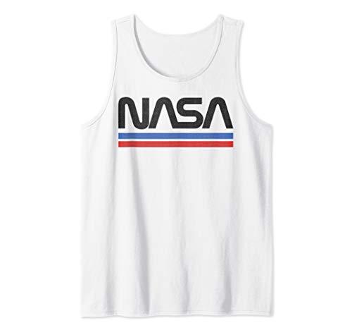 NASA Red Blue Stripe Minimal Logo Vintage Tank Top