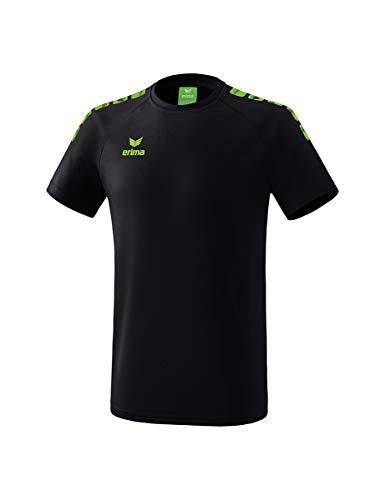ERIMA Kinder T-shirt Essential 5-C, schwarz/green gecko, 110, 2081939