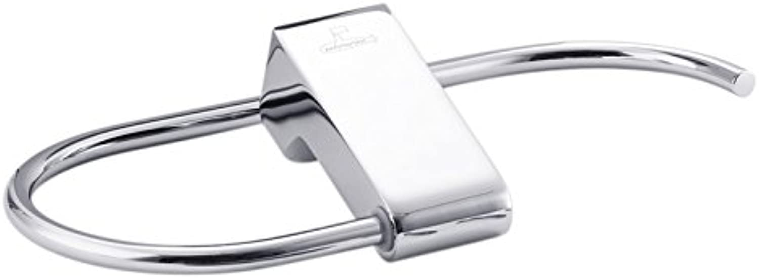 Renovatsh Towel Ring Bathroom Hardware Attached to The Stainless Steel Silver Chrome Plateddurable Modern Minimalist Decoration Quality Assurance Beautiful and Elegant Comfortable