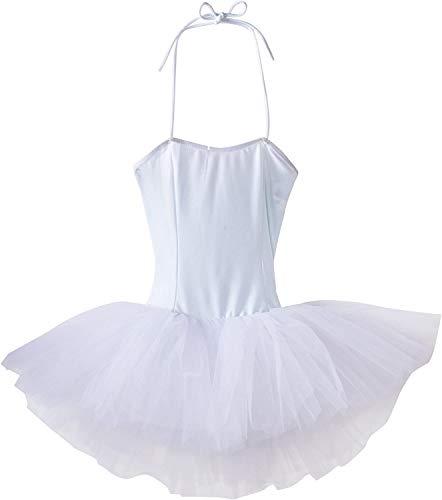 Sansha Shirley Ballettkleid für Mädchen, 5 Schichten Tüll (weiß, 100 cm)