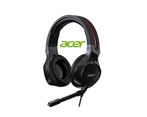 """Acer Nitro, Cuffia Gaming con Cavo jack 3.5mm, Impedenza 21 Ohm, Sensibilità 100 dB, Driver 50 mm, Microfono Boom e Omnidirezionale Flessibile da 6"""", Leggere, Windows 7/8/8.1/10 x32/x64"""
