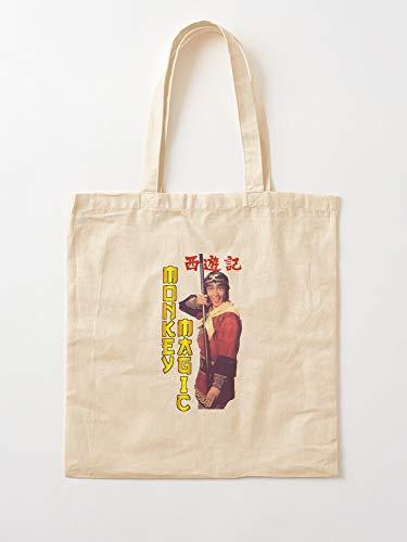 Tripitaka Pigsy West The Monkey Magic to Sandy Journey   Einkaufstaschen aus Leinen mit Griffen, Einkaufstaschen aus robuster Baumwolle