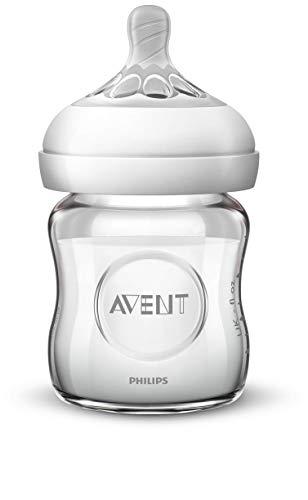 Philips Avent Natural Sauger SCF041/27, 0m+, für Neugeborene, für Natural Flaschen, naturnahes Trinkverhalten, Anti-Kolik-System, transparent, 2er Pack