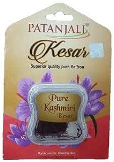 Patanjali Kesar Superior quality Pure Saffron 2 x 1g (Pack of 2) Pure kashmiri Kesar Ayurvedic Medicine A Product Of Patanjali Ayurved