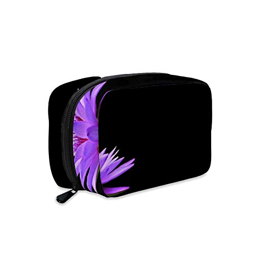 Water Lily Nuphar Lutea Aquatic Plant Makeup Bag Zipper Pouch Travel Toiletry Bag Cosmetic Accessories Organizer Purse Large Portable for Women Girls