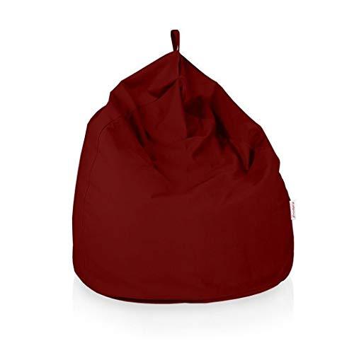 Italpouf Pouf Sacco Gigante XXL 100 Ø x 130 cm Pouf Sacco Morbido Tessuto Microfibra! Pouf Sacco Sfoderabile! Puff Sacco Imbottito! Poltrona Sacco 19 Colori (Pouf Sacco Gigante XXL, Bordeaux)