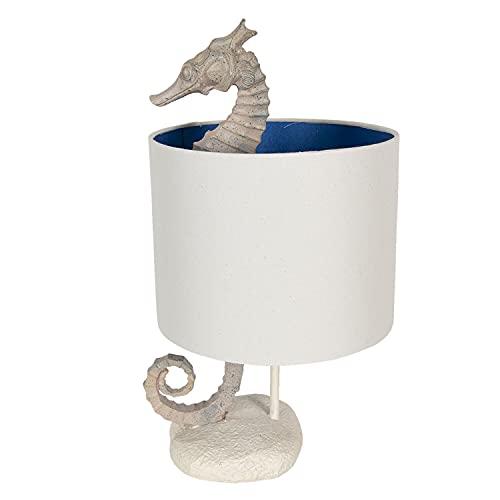 Clayre & Eef Lámpara de mesa de polirresina, 23 x 23 x 44 cm, 6LMC0034