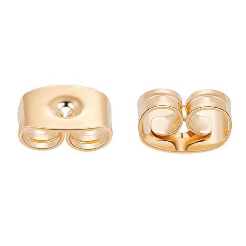BENECREAT 18K goud vergulde oorhaak voor accessoires voor doe-het-zelf accessoires 18 Karat vergoldet Oorring-achterkant - goud overtrokken