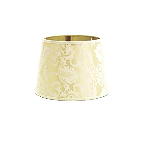 Konischer Lampenschirm Weiß Ecru für E14 Nachttischlampe Tischleuchte Stoff Schirm klein WILLOW