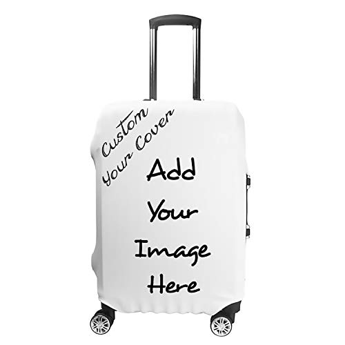 Personalized Custom Luggage Cover with Your Image or Text,Suitcase Cover,Polyester Travel Luggage Cover,Suitable for any types luggage (Fits 19-21 Inch Luggage)