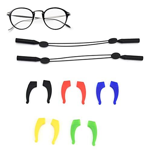 Soporte para gafas, accesorio antideslizante para gafas con gancho para gafas para niños y adultos