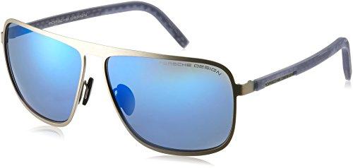 Porsche Design P8641 B 62 12 140 rechthoekige zonnebril 62, zilver