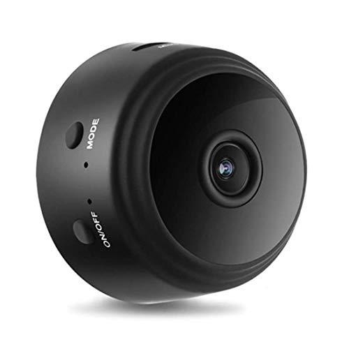Mini cámara magnética de seguridad para el hogar Full HD con visión nocturna, detección de movimiento, monitorización 24h, temporizador - 1080p, WiFi, IP - negro