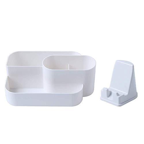FHKBB Cosmetic Make Up Organizer, Home Desktop Schreibtisch Ordentlich Fernbedienung Halter Aufbewahrungsbox - Vielseitige Sortierbox Make-up Aufbewahrung mit 4 Fächern für Schreibtische