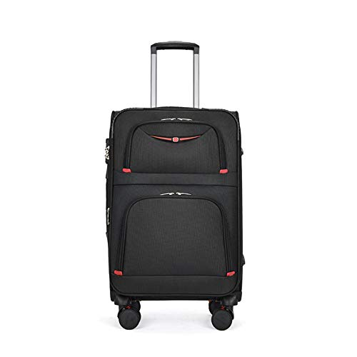 eLy 20-Inch Business Men'S Trolley Case, Universal Wheel Luggage, Suitable For Men'S Business And Travel, Made Of Oxford Cloth, Waterproof, Anti-Theft, Black