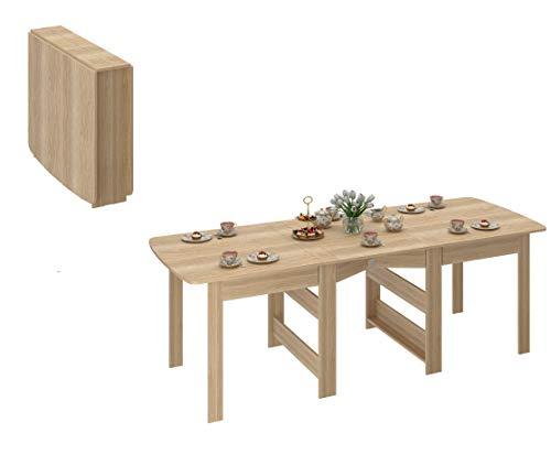 Klapptisch - Klappbarer Tisch - Esstisch ausklappbar bis 240 cm - Eiche Sonoma - Küchentisch - Funktionstisch CK-2