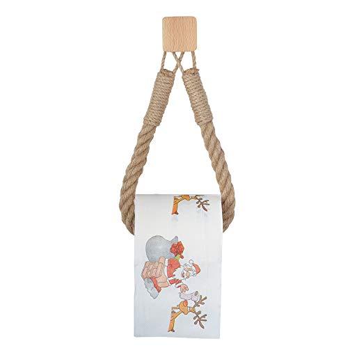 Porta carta igienica Vintage corda di canapa in legno porta rotolo di carta igienica per il bagno