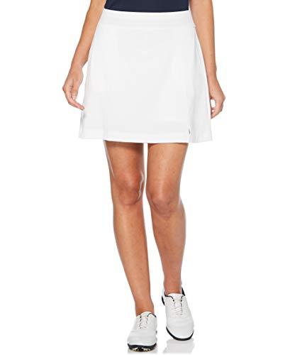 Callaway Damen Golf-Skort, Solider Stretch, Brillantweiß, Größe XL