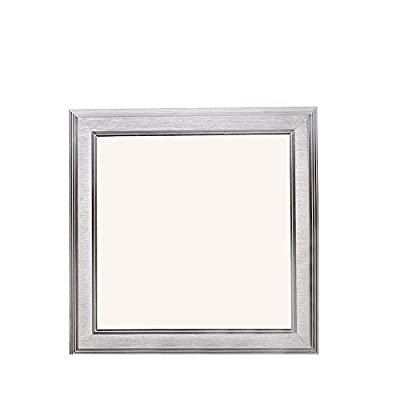 Flat Square LED Recessed Ceiling Light Panel Downlight Lamp Cool White 6000-6500K Non Dimmable for Home Office Commercial Lighting
