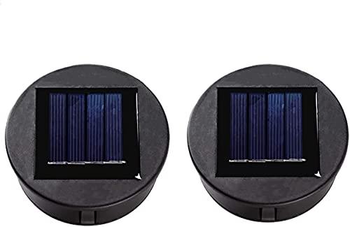 2 lámparas solares LED de repuesto para lámparas solares superiores, lámparas de repuesto para lámparas de techo al aire libre, lámparas de repuesto para lámparas solares LED, decoración de jardín