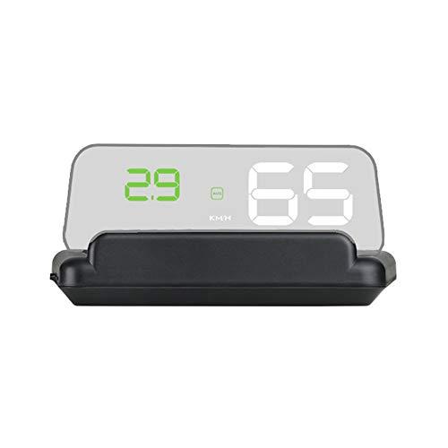 Gecheer Auto HUD affichage tête haute affichage haute définition tachymètre outil de diagnostic de voiture, adapté à l'alarme de vitesse de tous les véhicules