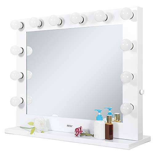 ZENY Hollywood Vanity Makeup Mirror Light Dressing Table Vanity Set Mirrors with Dimmer Wall-Mounted Vanity Mirrors