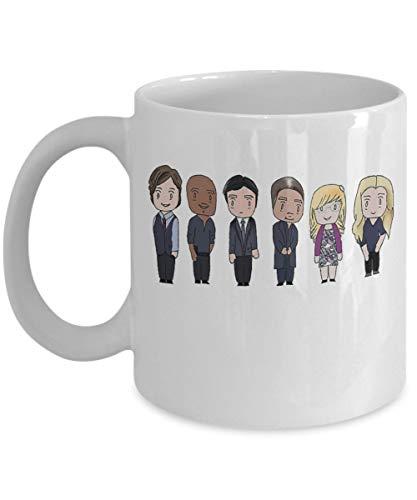 BAU Unit - por: Baratijas y novedades - Programa de televisión Inspirado en Criminal Minds Merchandise Agente del FBI Reid Hotchner Garcia Emily Prentiss Coffee Tea Mug Cup Fan