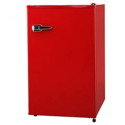 RMYHOME 2.3 Cu.ft Compact Upright Freezer, Mini Freezer with Single Door and Shelves, Adjustable Leveling legs, Cold Storage of Food & Beverage for Home, Office, Dormitory, Apartment, Red