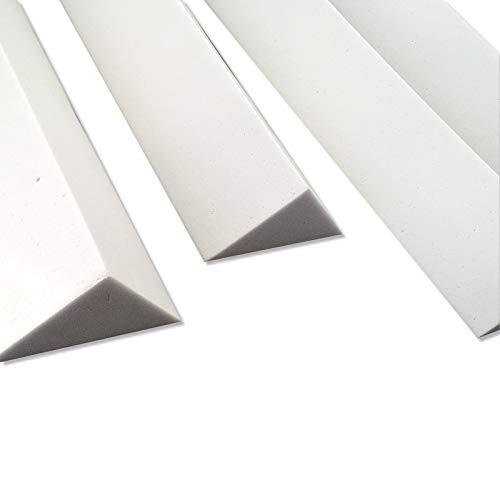 4 Bass Trap Eckabsorber aus Basotect ® G+ je 12/12/17 x 100 cm HiFi Akustik Elemente für WAND und DECKE