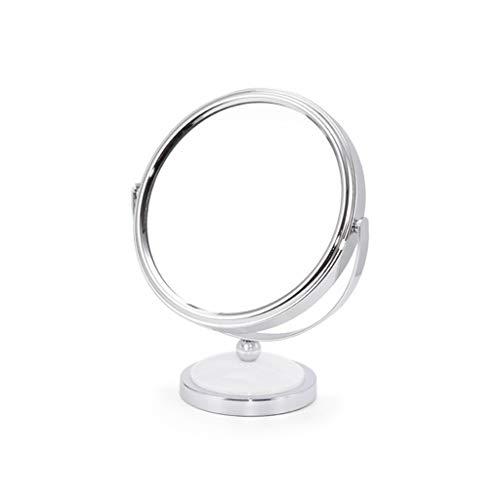 C-J-Xin Miroir rond en métal, 360 ° Vrille double face miroir de maquillage Salle de petit miroir X3 Grossissement haute définition Eyeliner Miroir Miroirs à main pour salons de coiffure