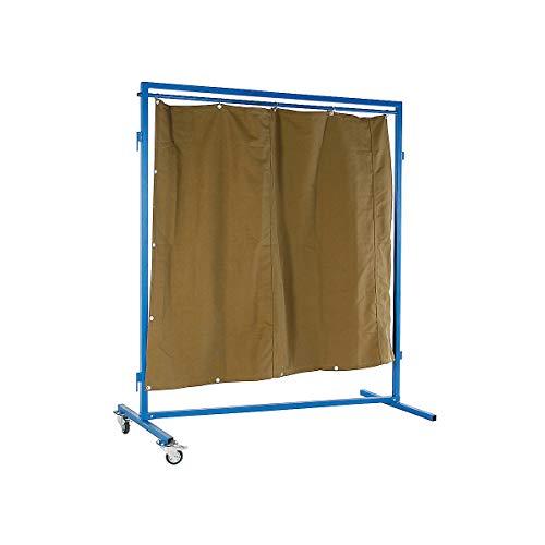 Certeo Mobile Schweissschutzwand | HxBxT 200 x 60 x 220 cm | Mobile Schweissschutzwand Schweißtische Werkstatt Trennwand