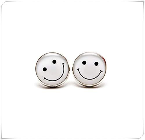 Smiley Face Stud Pendientes, Smile Jewelry Pendientes de cara sonriente, pendientes de emoticono con cara sonriente, joyería Geek Geekery Geeky Smiley Face Smile