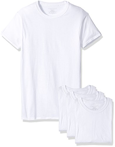 Fruit of the Loom Men's Premium Crew Tee (Pack of 4), White, Large