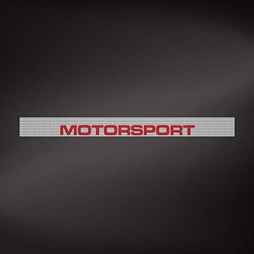 """Feuille Pare-Soleil Microperforé pour Voiture""""Motorsport"""", 14 x 125 cm, Blanc et Noir"""