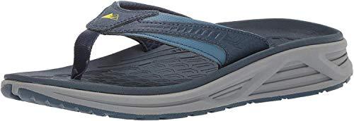 Columbia Men's Molokai III Sandal, High-Traction Grip, Shock Absorbent, Steel, Zour, 13 Regular US