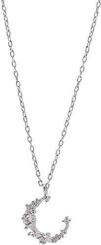 ZPPYMXGZ Co.,ltd Collar de Moda Collar de Luna Mujer Cadena de clavícula Simple Cumpleaños Corto Amor Tu Mejor Regalo