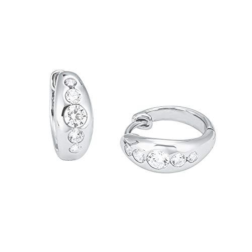 s.Oliver Creole für Damen aus feinstem 925 Sterling Silber mit Zirkoniasteinen