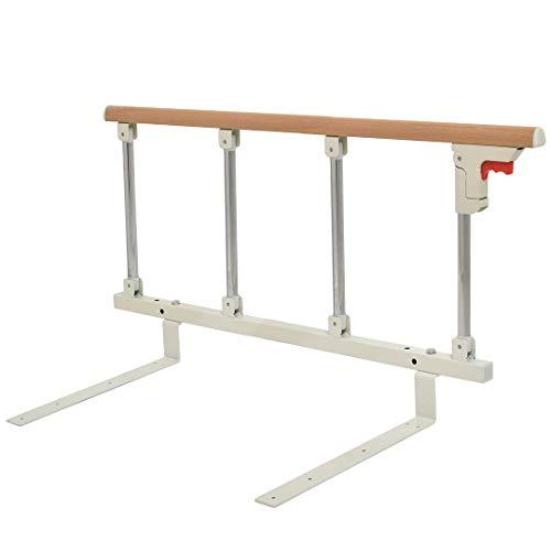 Cific ベッドガード 折りたたみ式 介護 転落防止 手すり 木目調 (4段)