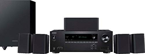 Onkyo HT-S3910 Home Audio Theater Receiver and Speaker Package, Front/Center Speaker, 4 Surround...